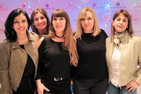 Ariadna Carreras, Fernanda Tramontini, Erica Curasi, Fernanda, Menotti y Alicia Garcia de Soy Lola