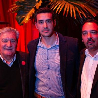 Miguel Gugliatto, Sergio Velardo y Emanuel Vallejos
