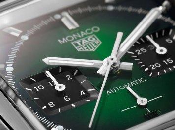 TAG Heuer y su icónico Monaco en color verde