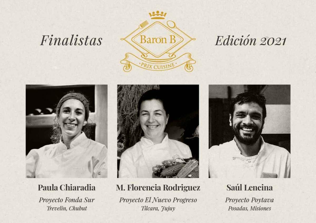 Prix de Baron B - Édition Cuisine: anuncian los tres proyectos finalistas