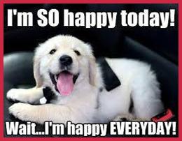 I'm so happy today! Wait...I'm happy everyday!