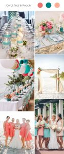 coral-teal-and-peach-wedding-color-combination-ideasl