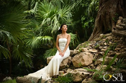 Dylis and Victor Chow Trash the Dress before their wedding in Playa del Carmen, Mexico.