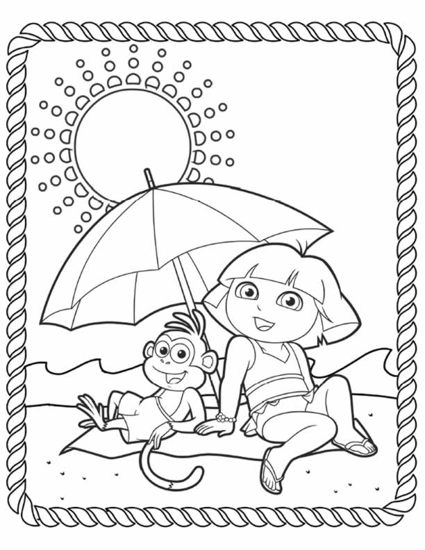 dora colouring sheets  pdf printable  dora and friends