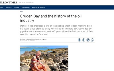 Cruden Bay and the history of the oil industry