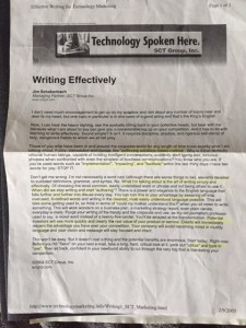Writing Effectively - Jim Schakenbach