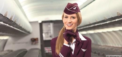 Stewardess der Airline Eurowings