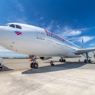Ein A330 Flieger von Eurowings, vielleicht für die neuen Flugverbindungen