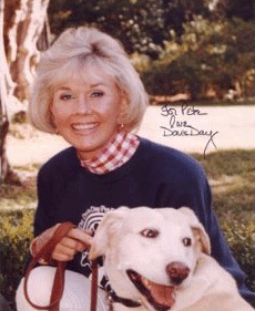 Image result for Doris Day and pet