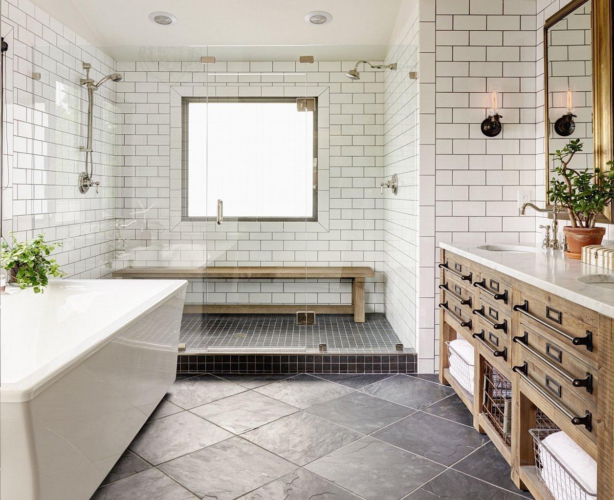 5 Easy Ways To Style a Modern Farmhouse Bathroom on Farmhouse Shower Ideas  id=39091