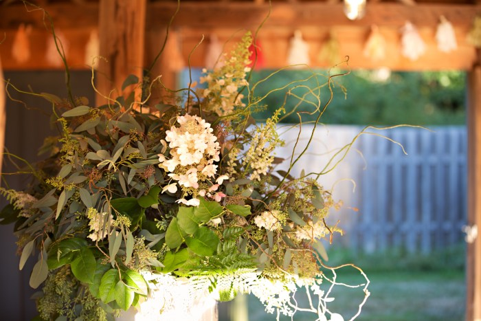 Bouquet in Shaw Island Barn