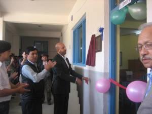 Shanti Nikunjs School library inauguration.