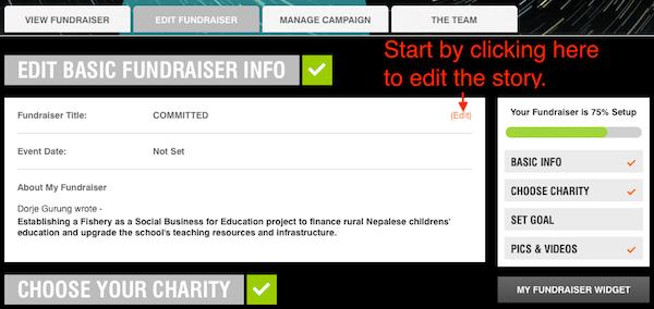6. crowdrise editing fundraiser
