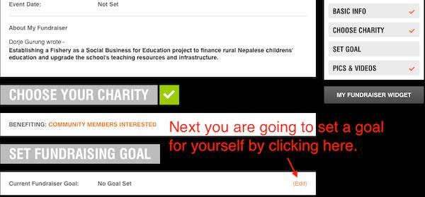 8. crowdrise editing goal