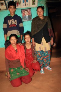 Bishnu & three of her four siblings from her mother's side.