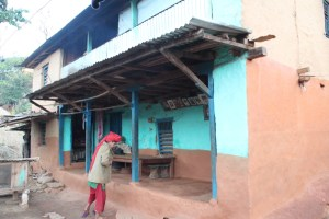 Bishnu and her family's house.