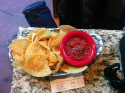 Chips & salsa at Abuquerque airport, accompaniment to the Rancheros.