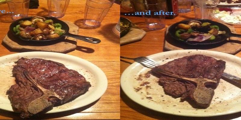 steak at Rube's Steakhouse -resized