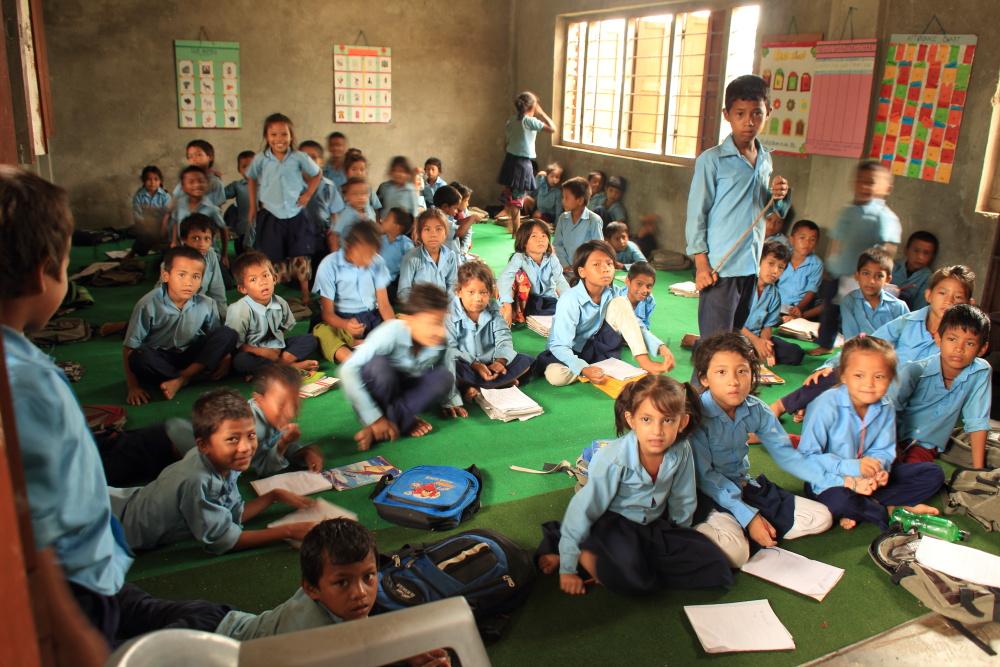 A primary (elementary) school classroom.