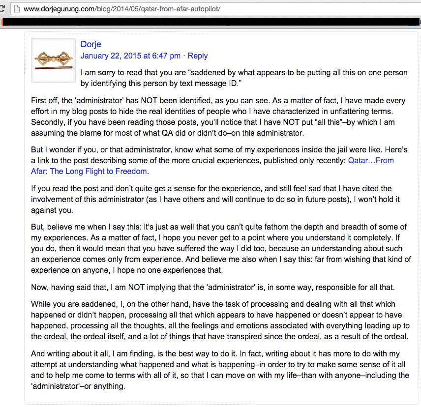 response to autopilot comment