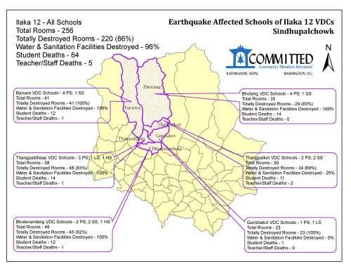 Earthquake Affected Map - Ilaka 12 Sindhupalchowk