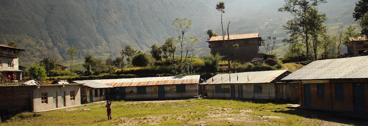Taltuleshwori School as it were last fall, before the earthquake of April 25, 2015.