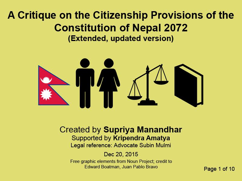 Nepal Constitution citizenship provisons p1