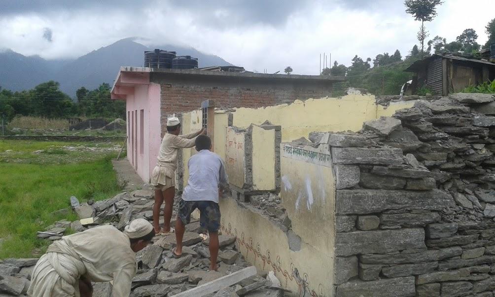 Post Quake - Taluleshwori school library