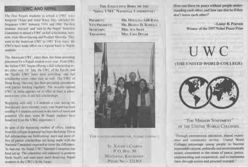 UWC Scholarships, Nepotism and Conflict of Interest