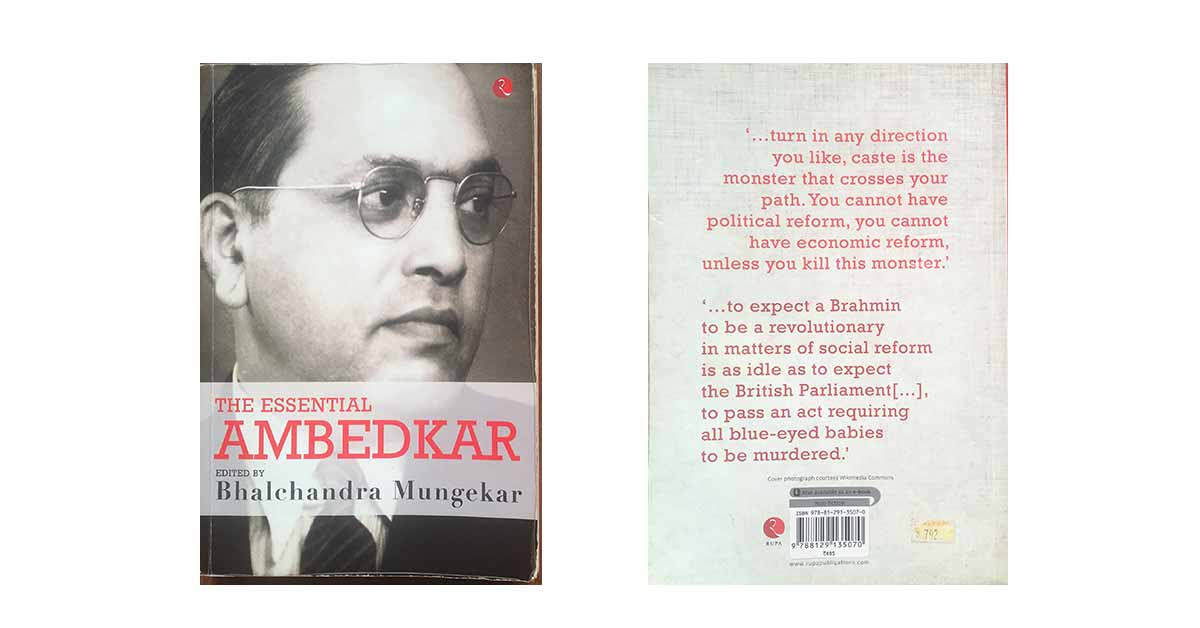 The Essential Ambedkar front and back cover