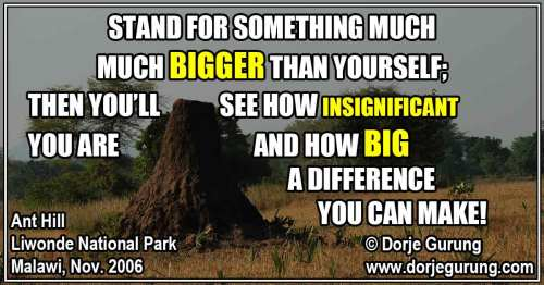 Stand for Something Much MUCH Bigger Than Yourself…
