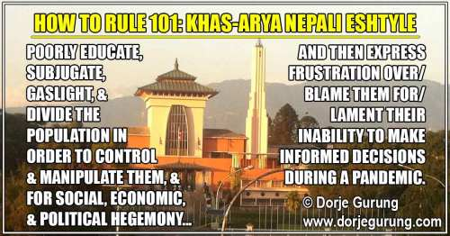 How To Rule 101: Khas-Arya Nepali Eshtyle