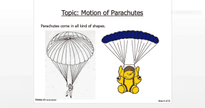 A Fun Activity: Motion of Parachutes