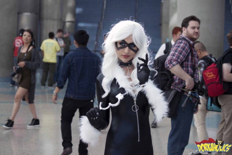 A Black Cat cosplayer at Stan Lee's Los Angeles Comic Con. Photo by Neil Bui.