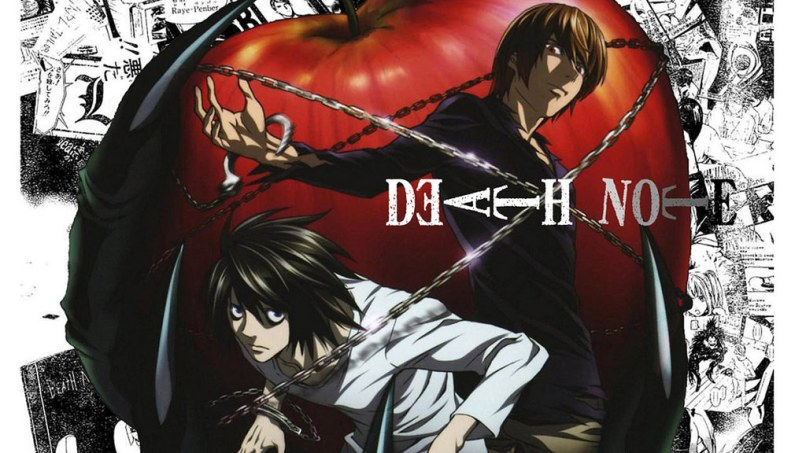 "L and Light (Yagami, not Turner) in the ""Death Note"" anime series."