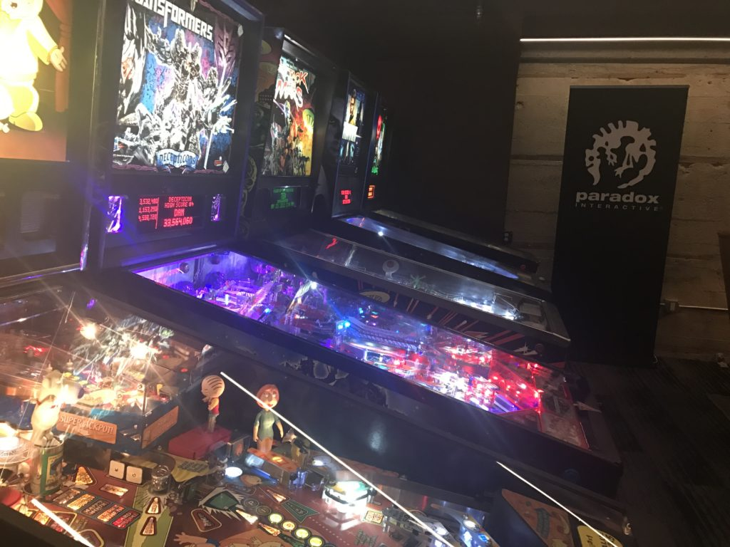 Paradox Interactive Party at Coin-Op Game Room.