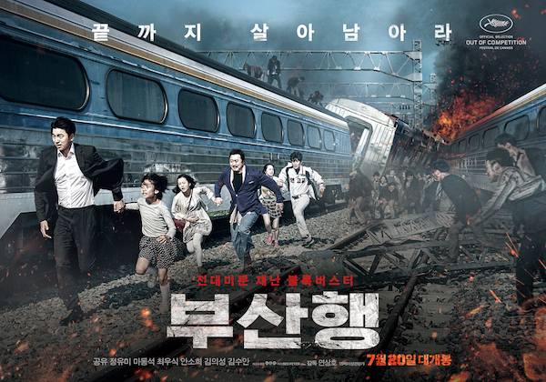 Train to Busan is a 2016 South Korean zombie apocalypse action thriller film directed by Yeon Sang-ho and starring Gong Yoo, Jung Yu-mi, and Ma Dong-seok. The film takes place in a train to Busan, as a zombie apocalypse suddenly breaks in the country and compromises the safety of the passengers.