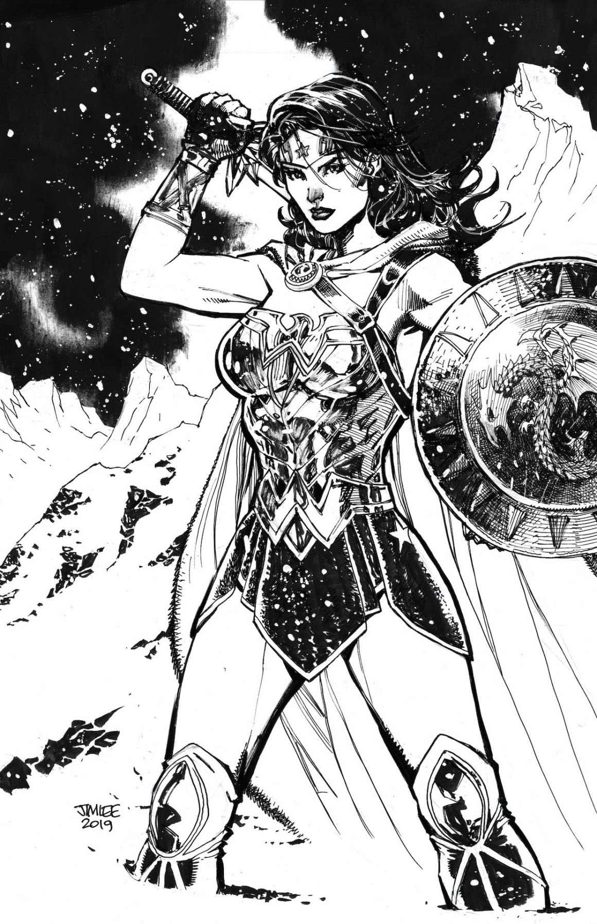 Variant cover by Jim Lee for Wonder Woman #759. Photo: DC Comics