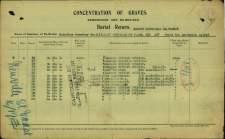 John Muggeridge Burial Return Report © CWGC.org