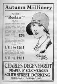 Charles Degenhardt Millinery Advert