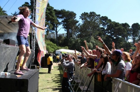 !!! at Outside Lands Festival 2011 (via Film Magic Inc)