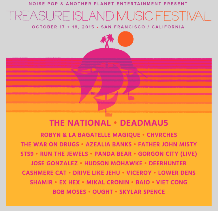 Treasure Island Music Festival 2015 Lineup
