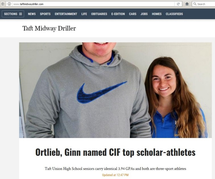"""""""Ortlieb, Ginn named CIF top scholar-athletes"""" but don't forget about Nike."""
