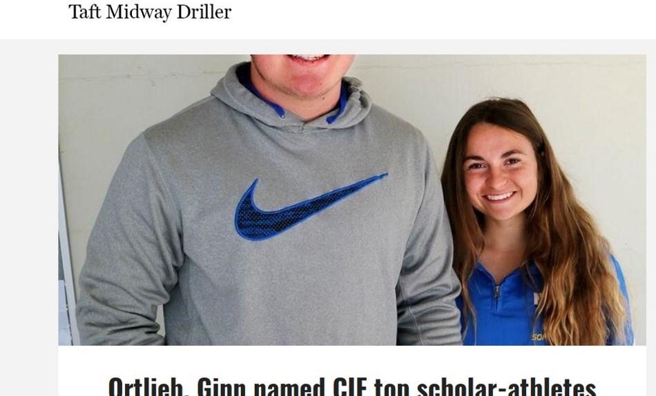 Ortlieb, Ginn named CIF top scholar-athletes