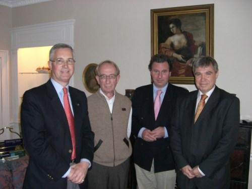 L to R: Vivian Dunn, Tony Garvey, Oliver Lewtin MP, Kevin Poulton