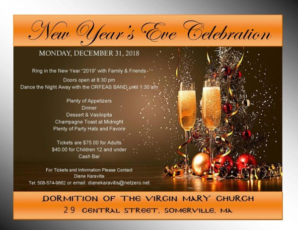New Years Eve Celebration | Dormition of the Virgin Mary ...