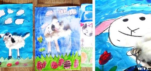 Malen mit Kindern - Osterlamm