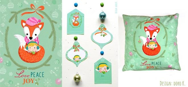 Weihnachten - fröhliche Design Produkte von doro K.   www.dorokaiser.online.de