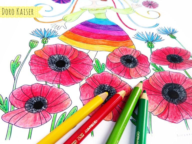 gratis ausmalbild im juni coloring page midsommar