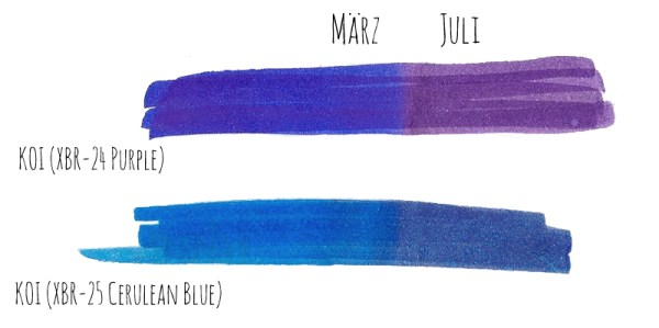 Review Vergleich Brush Pen - TOMBOW vs. Sakura KOI | Lichtechtheit | www.dorokaiser.online.de